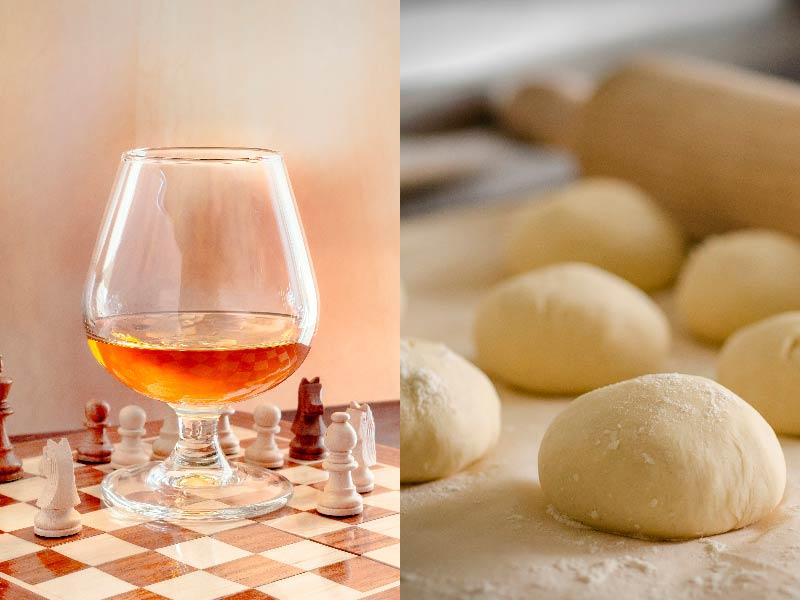 Тесто и алкоголь